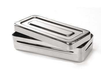 Stainless steel sterilization box (image)