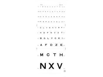 Eye test chart - 3 m Monoyer (image)