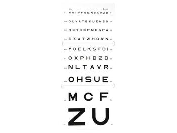 Eye test chart - 5 m Monoyer (image)